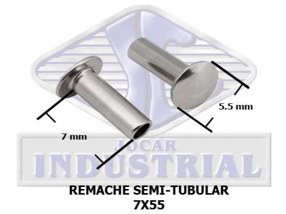 Remaches Semi-Tubular cabeza plana